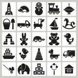 Ícones dos brinquedos das crianças ilustração do vetor