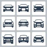 Ícones dos carros do vetor ajustados Imagens de Stock Royalty Free