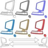 Ícones dos computadores ajustados Imagens de Stock Royalty Free
