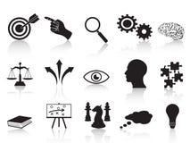 Ícones dos conceitos da estratégia ajustados Fotos de Stock