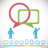 Ícones dos conceitos da inovação do negócio ajustados Fotografia de Stock