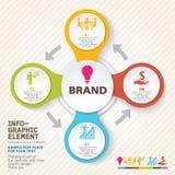 Ícones dos conceitos da inovação do negócio ajustados Imagens de Stock Royalty Free