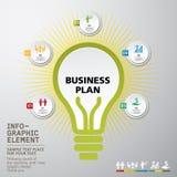 Ícones dos conceitos da inovação do negócio ajustados Foto de Stock Royalty Free