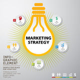 Ícones dos conceitos da inovação do negócio ajustados Fotografia de Stock Royalty Free