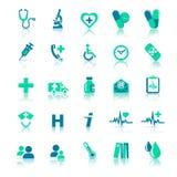 Ícones dos cuidados médicos Fotos de Stock