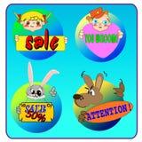 ícones dos desenhos animados Imagem de Stock Royalty Free