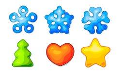 Ícones dos desenhos animados para a interface de utilizador do jogo Fotos de Stock
