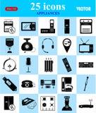 Ícones dos dispositivos ajustados para a Web e o móbil Fotografia de Stock Royalty Free