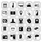 Ícones dos dispositivos ajustados para a Web e o móbil Fotos de Stock Royalty Free