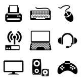 Ícones dos dispositivos do computador Imagens de Stock