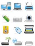 Ícones dos dispositivos do computador Foto de Stock Royalty Free