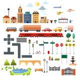 Ícones dos elementos do projeto da cidade Foto de Stock Royalty Free