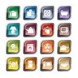 Ícones dos eletrodomésticos ilustração do vetor