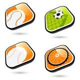 Ícones dos esportes Fotos de Stock Royalty Free