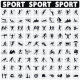 Ícones dos esportes ajustados ilustração do vetor