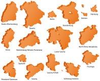 Ícones dos estados alemães Imagem de Stock Royalty Free