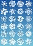 Ícones dos flocos de neve ilustração royalty free