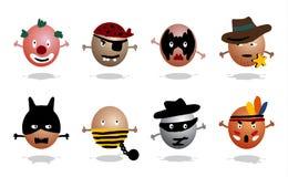 Ícones dos heróis Imagem de Stock