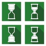 Ícones 4 dos icon_Timeglass de Timeglass Imagens de Stock