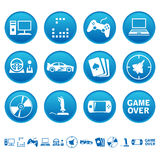Ícones dos jogos de computador Foto de Stock Royalty Free