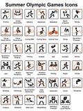 Ícones dos Jogos Olímpicos do verão ilustração stock