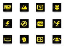 Ícones dos modos da foto ajustados Imagem de Stock Royalty Free