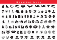 Ícones dos monstro Fotografia de Stock Royalty Free