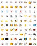 Ícones dos multimédios do Web Imagem de Stock