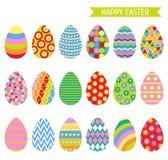 Ícones dos ovos da páscoa ilustração do vetor