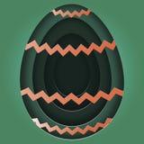 Ícones dos ovos da páscoa Ilustração do vetor Os ovos da páscoa por feriados da Páscoa projetam no fundo branco Foto de Stock Royalty Free