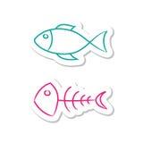 Ícones dos peixes Fotografia de Stock Royalty Free