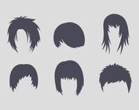 Ícones dos penteados Imagem de Stock Royalty Free