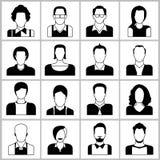 Ícones dos povos Imagens de Stock Royalty Free