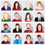 Ícones dos povos ajustados ilustração royalty free