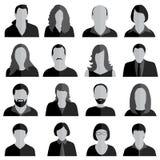 Ícones dos povos ajustados ilustração stock