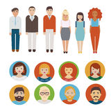 Ícones dos povos ajustados Foto de Stock Royalty Free