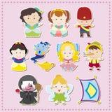 Ícones dos povos da história dos desenhos animados Imagem de Stock Royalty Free