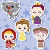 Ícones dos povos da história dos desenhos animados Imagem de Stock