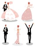 Ícones dos povos do casamento do grupo Imagem de Stock Royalty Free