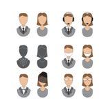 Ícones dos povos, projeto liso Imagem de Stock Royalty Free