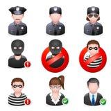 Ícones dos povos - segurança do Internet Imagens de Stock Royalty Free