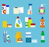 Ícones dos produtos da higiene e de limpeza do vetor Imagem de Stock Royalty Free