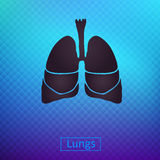 Ícones dos pulmões Imagens de Stock Royalty Free