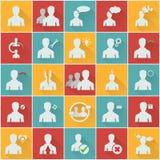 Ícones dos recursos humanos Imagem de Stock Royalty Free