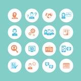 Ícones dos recursos humanos Imagens de Stock
