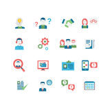 Ícones dos recursos humanos Fotografia de Stock