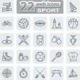 Ícones dos símbolos do esporte Imagem de Stock