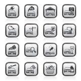 Ícones dos serviços do carro e da estrada Fotos de Stock Royalty Free
