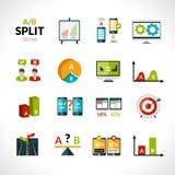 Ícones dos testes do A-b Imagens de Stock Royalty Free
