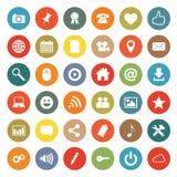 Ícones dos trabalhos em rede Foto de Stock